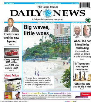 Photo of the Virgin Islands Daily News Newspaper