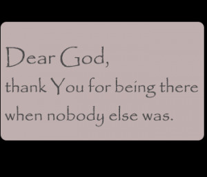 Thank You, God Quote