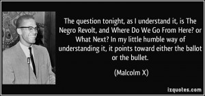 tonight, as I understand it, is The Negro Revolt, and Where Do ...