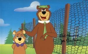 yogi and boo boo item # yb03 hanna barbera original production cels