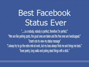 Funny Facebook quotes, status updates, profile pics
