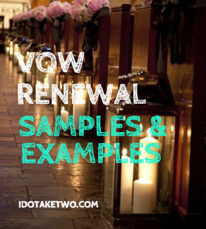 Vow Renewal Samples and Examples