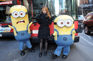 Photo Alert: Debby Ryan With Minions In Manhattan!