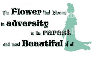 Mulan DIYThe Flower Blooms Beautiful Quote Wedding Princess iron ...