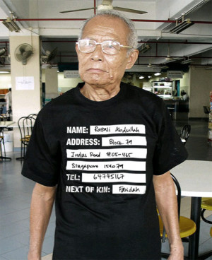 Alzheimer's T-Shirt Advertising
