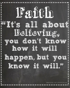 Quotes About Faith Faith quote