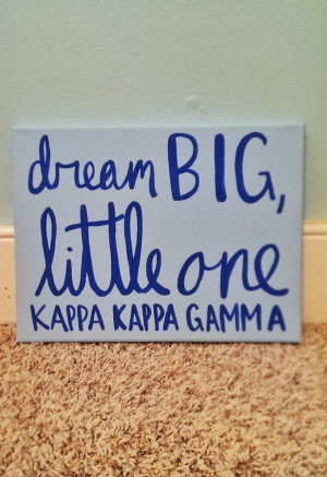 Dream Big Little One Sorority Canvas Quote Art by QuotesOfNote, $18.00