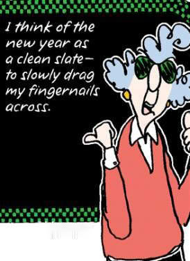 New Year Maxine Clean Slate Resolutions Happy Fingernails Blackboard ...