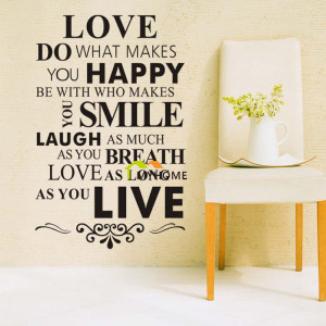 ... Stickers Inspirational Quotes Sayings Art HomeRoom Wall Decor Decals
