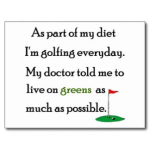 Funny Golf Sayings Postcards