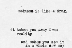 depression sad suicide lonely quotes white drugs pain alone black drug ...