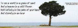 To see a world in a grain of sandAnd a heaven in a wild flowerHold ...