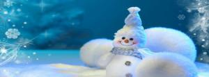 Cute Snowman Facebook Cover