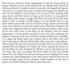Jamestown Cannibalism