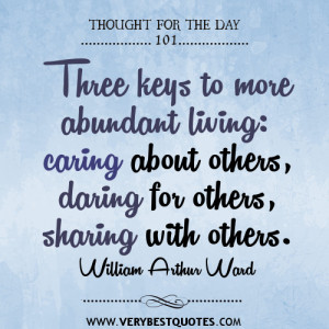 Thought For The Day: Three keys to more abundant living