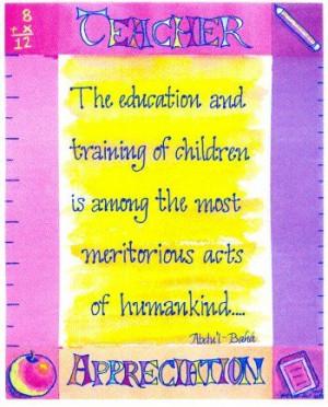 ... :: Blank Cards :: Teacher Appreciation Cards - Baha'i Jewelry