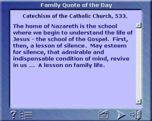 Catholic Family Quote of the Day v1.0
