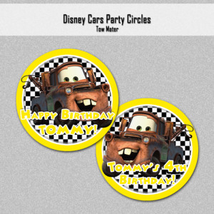 Disney Cars Inspired Cake Toppers: Lightning McQueen - Printable PDF