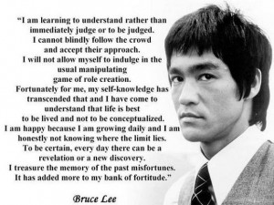 Bruce Lee Philosophy #27: Life itself is your teacher, and you are in ...