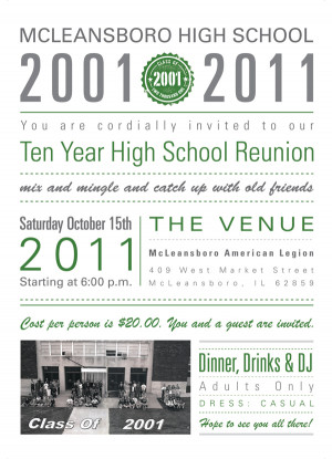 McLeansboro High School Reunion Invitations on Behance