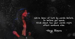 Naya Rivera Quote by JuuJuhu