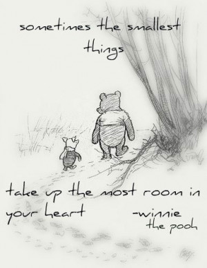 sweet Winnie the Pooh quotes and they melted my heart. Sometimes we ...