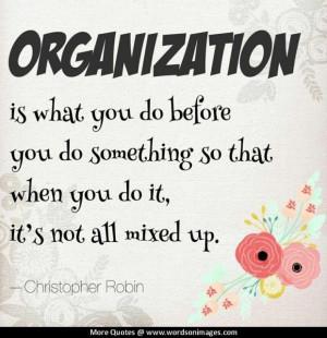 Organizational Inspirational Quotes. QuotesGram