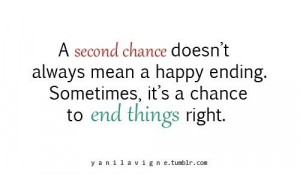 second chance . . .