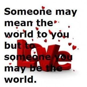 she means the world to me quotes