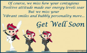 Cute message to wish co-worker a speedy recovery