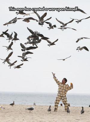 Bread Man Vs. Seagulls