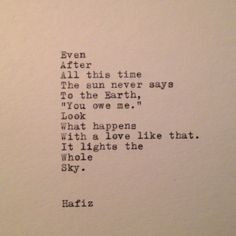 Quotes On A Typewriter, Quotes Typewriter, Happy Quotes, Hafiz Quote ...