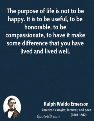 Ralph Waldo Emerson Life Quotes
