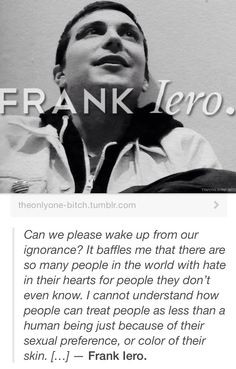 frank iero quote well said frankie and what a nice guy
