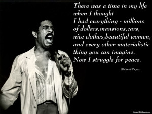 Image for Richard Pryor Struggle Quotes Wallpaper