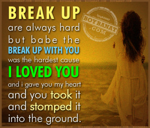 really sad break up quotes