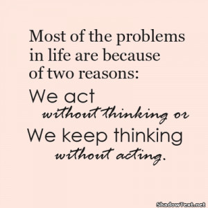 Thinking and Acting