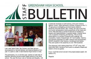 Connecting Classroom activity with Greenshaw High School U.K.