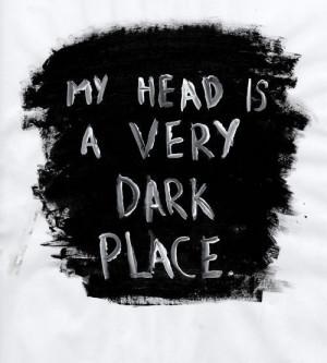 dark, depression, head, text