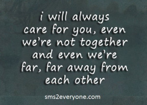 SMS - I will always care for you