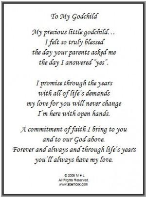 Godchild Poem Frame