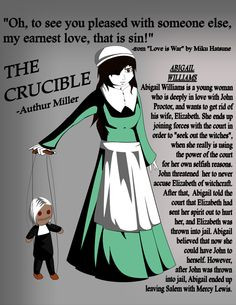 Vengeance and greed in arthur millers the crucible