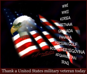 Thank a United States military veteran today