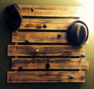 Hat rack & Coat rack. Semi homemade.Racks Coats, Pallets Hats, Coats ...