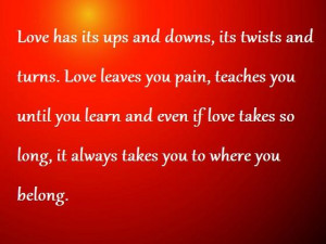 Love with Ups and Downs; love messages, love quote, love quote ...