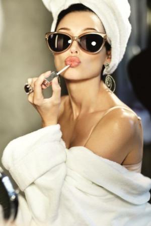 brunette, girl, gloss, model, sunglasses, woman