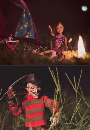 ... this is Freddy Krueger and one of Barbie's younger sisters, Stacie