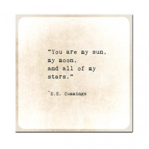 Sun Stars EE Cummings Gold Golden Quote Typography Inspirational Quote ...