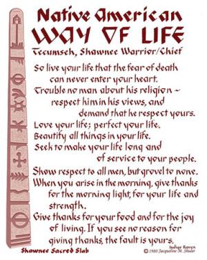 Act of Valor movie quote:Tecumseh