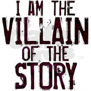 am_the_villain_of_the_story_car_magnet_12_x_20.jpg?color=White ...